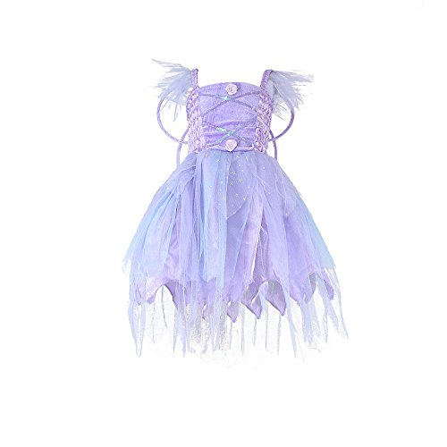 New Premium Quality Princess Dress Halloween Christmas Cosplay Costume Girls Party Dress, Purple -