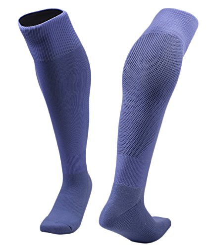 Lovely Annie Unisex Children&Adult 1 Pair Knee High Sports Socks for Baseball/Soccer/Lacrosse 005 M(Light (High Five Blue Soccer Uniform)