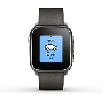 Amazon.com: Reloj inteligente Pebble Smartwatch para iOS y ...
