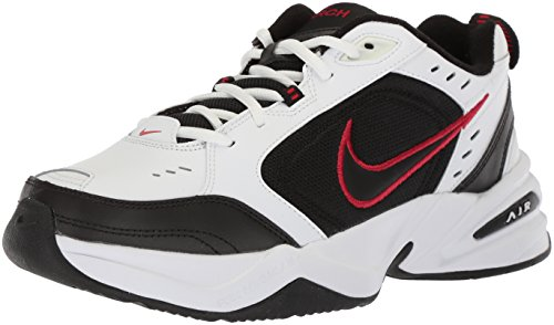 Nike Air Monarch IV Training Shoe (4E) - White/Black/Varsity Red, Size 10 US
