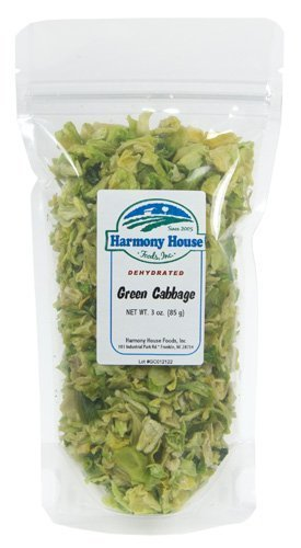 Harmony House Foods Dried Cabbage Flakes (2.5 oz, ZIP Pouch)