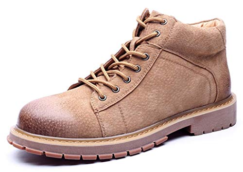 2018 Fashion Pelliccia New 44EU Round Foderato Up Toe Autunno Brown Bootie Tooling Martin Boots Mens Lace qRztw