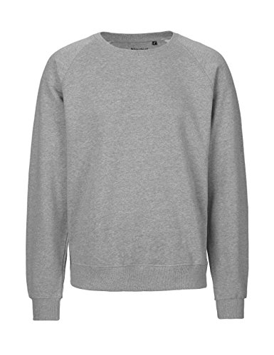 NEUTRAL Sweatshirt Unisex, 100% Organic Cotton, Fairtrade and Oeko-Tex Certified, Color Sports-Grey, Size S