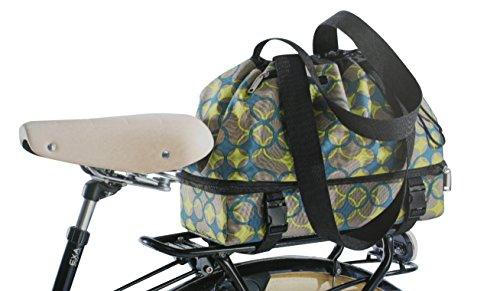 Fahrrad Gepäckträger Einkaufstasche Tasche grün