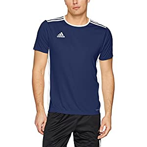 adidas Men's Soccer Entrada Jersey, Dark Blue/White, Medium