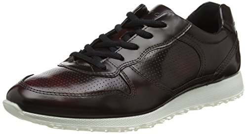 Red bordeaux Low Ecco Sneak Ladies Womens xnqX64EIp6