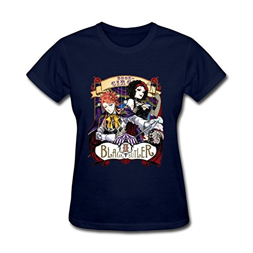 SAMSEPH Women's Black Butler Joker T-shirt Size M Royal Blue Kate Royal Wedding T-shirt