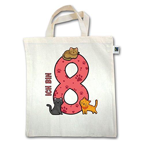 Compleanno Bambino - 8th Birthday Cats - Unisize - Natural - Xt500 - Manico Corto In Juta