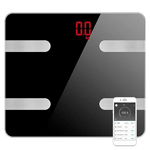 WZTO Balanza de Grasa Corporal Digital Inalámbrica Inteligente,15 datos Relacionados Analizador de Composición, Bluetooth...
