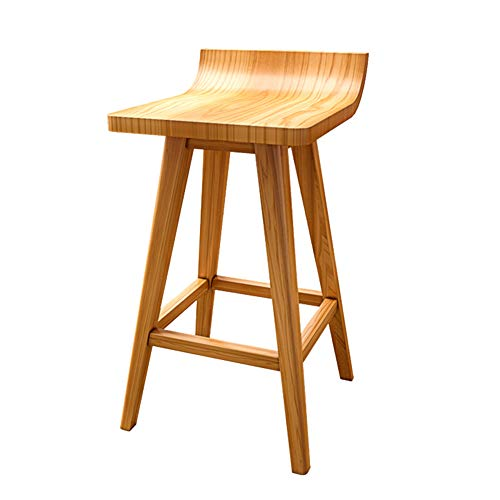 GYZ-Bar Stool Solid Wood Footstool- Wooden Bar Stool with Natural Finish Footrest Elegant and Ergonomic Seat Surface, 3 Seat Height Optional // (Color : B, Size : 2)