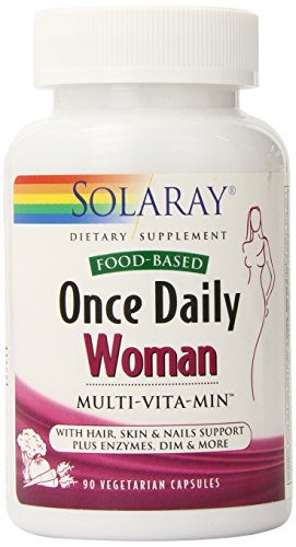Solaray Once Daily Multivitamin Capsules for Woman, 90 Count (Best Multivitamin For Hpv)