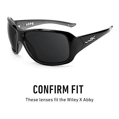 Verres de rechange pour Wiley X Abby — Plusieurs options Polarisés Elite Titanium MirrorShield®