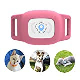 BARTUN GPS Pet Tracker - Cat Dog Tracking Device with Unlimited Range (Pink)
