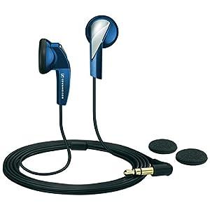Sennheiser 505435 Ecouteur Baladeur + Paire de Coussinets en Mousse – Bleu
