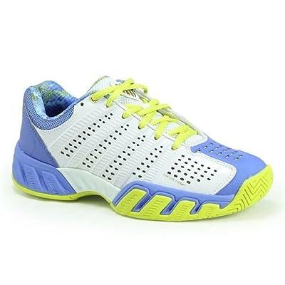 K-SWISS Juniors` Bigshot Light 2.5 Tennis Shoes White and Ultramarine - (83338-127F16)
