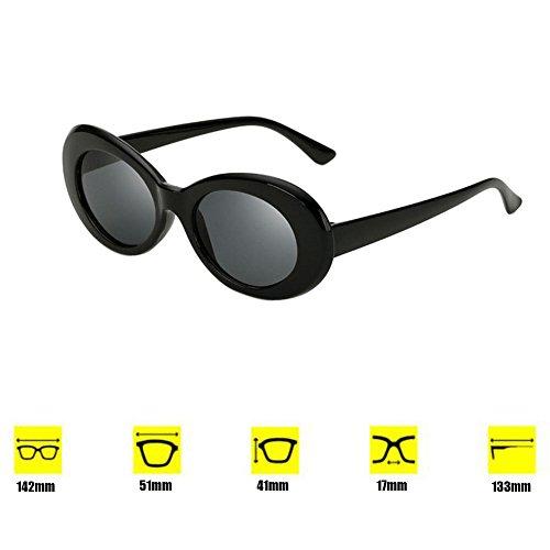 Jaune style soleil 9 lunettes gris rétro couleurs de de choix de Yefree Lunettes mod mode épaisse ovales E4wppXZxq