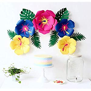 LG-Free Paper Flower Decorations Handcrafted Paper Artificial Flowers Party Paper Flower Backdrop Wedding Rose Flowers, Birthday Backdrop, Nursery Wall Decor, Photo Background Flower 3