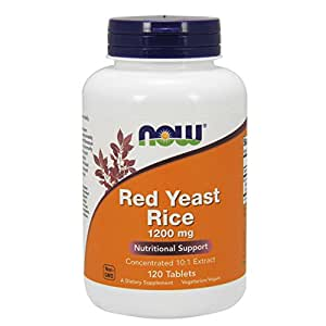 Amazon.com: NOW Red Yeast Rice 1200 mg,120 Tablets: Health