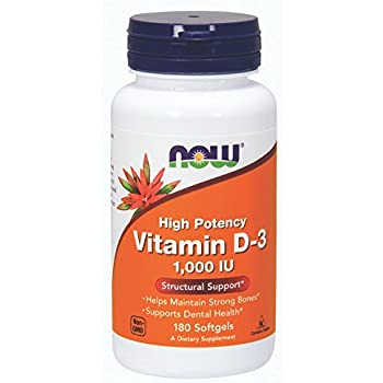 NOW Vitamin D-3 1,000 IU,180 Softgels