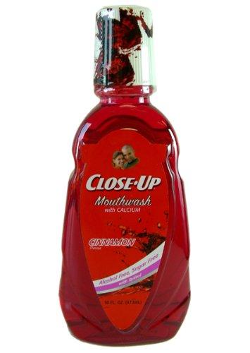 Close Up Mouthwash Cinnamon Calcium Bottle