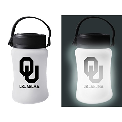 Team Sports America University of Oklahoma Outdoor Safe Silicon Solar Powered Tailgate Lantern