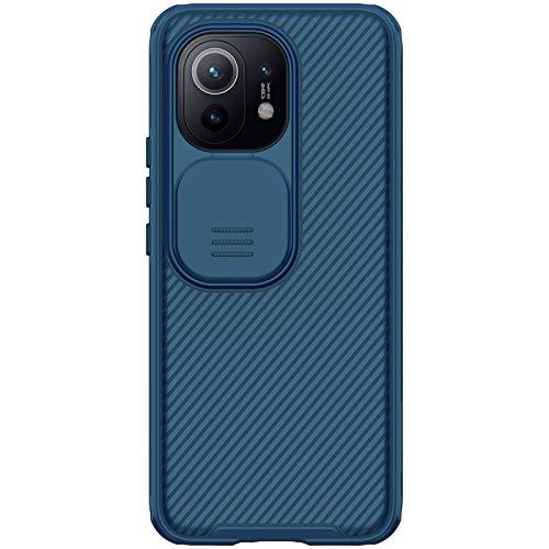 Nillkin Case for Xiaomi Mi 11 (6.81″ Inch) CamShield Pro Slider Camera Close & Open Double Layered Protection TPU + PC Blue