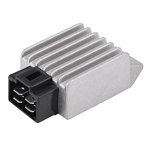 Universal Voltage Regulator Rectifier, 4-Pin 12V Male Plug Voltage Rectifier for 50cc to 150cc ATV Moped GY6 Scooter - Universal Voltage Regulator