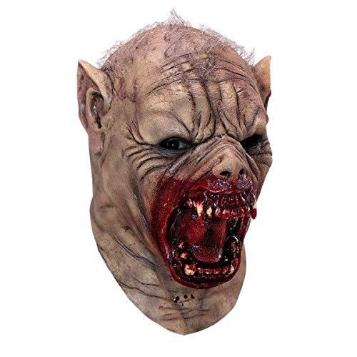 Farkaz Werewolf Latex Mask Lycan Halloween Horror Adult Size]()