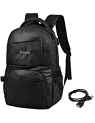 Vbiger Casual Backpack Waterproof Shoulder Bag Large-capacity Travel Daypack Multi-functional School Bag for Men