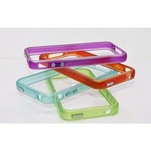 TOOGOO Blue Translucent Glow in the Dark Premium Bumper Case for Apple iPhone 4