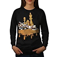 Play Chess With Me Game Board Women NEW S-2XL Sweatshirt | Wellcoda