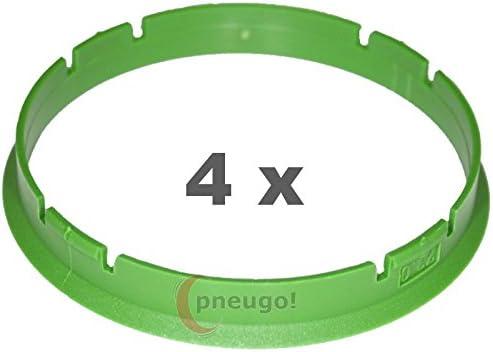 4/x Bague de Centrage plastique 73,1/mm sur 70.1/mm Vert