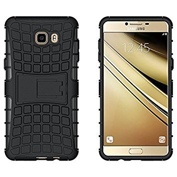 Trendygrabs Defender Back Cover for Samsung C9 Pro  Black  Mobile Phone Cases   Covers