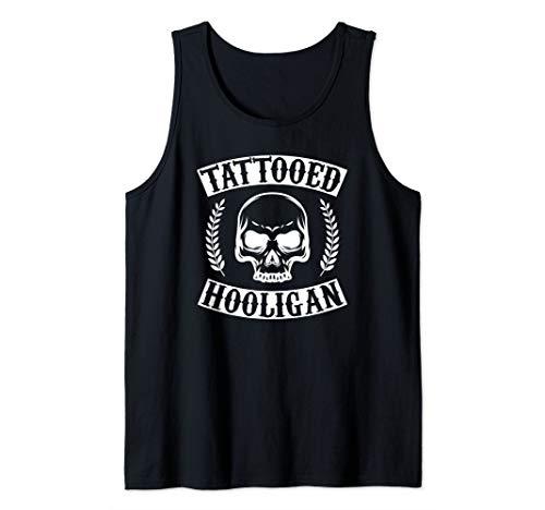 Tattooed Hooligan Black Tribal Tattoo Gun Gift  Tank Top