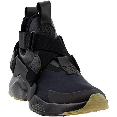 Nike Women's Air Huarache City Low-Top Sneakers, Black (Black/Black Dark Grey-Gum Light Brown 003), 4 UK 37.5 EU (Nike Acg Womens Air)