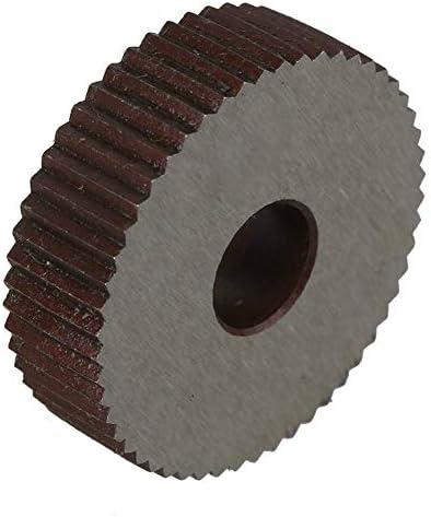 No Logo Rändelfräswerkzeuge Stahl 0,3 mm Pitch Linear Rändelrad 28 OD Einzel Gerade grobes Muster Rändelwerkzeug 2er Pack Alloy Hebt für Metalldrehmaschine