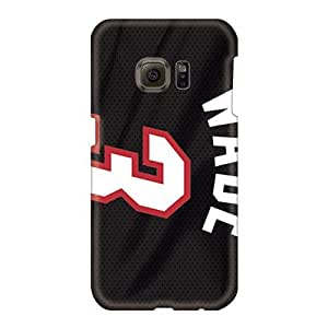 Great Cell-phone Hard Covers For Samsung Galaxy S6 With Provide Private Custom Stylish Miami Heat Pattern CharlesPoirier