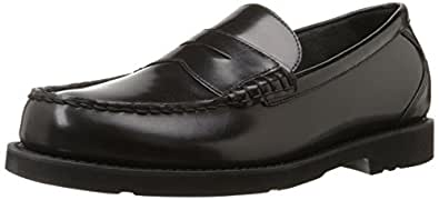 Rockport Men's Shakespeare Circle Penny Loafer,Black Brush ,6.5 W US