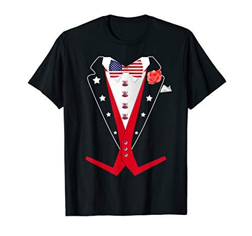 4th of July Tuxedo TShirt American Patriotic Suit