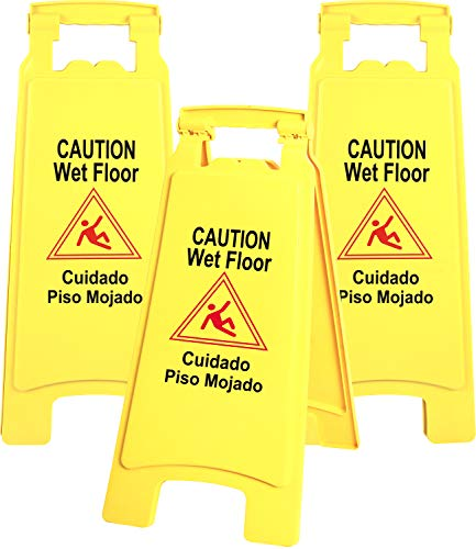 - Galashield Caution Wet Floor Sign 3 Pack Commercial 2-Sided Safety Yellow Signs (26