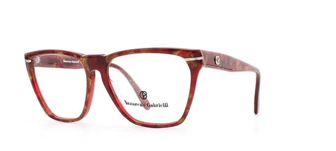 Nazareno Gabrielli - Monture de lunettes - Femme Rouge Rouge  Amazon ... d717cc038f2a
