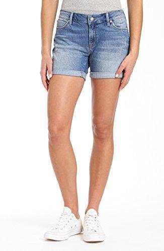 Distressed Shorts Vintage (Mavi Women's Pixie Boyfriend Short, Lt Distressed Vintage 32)