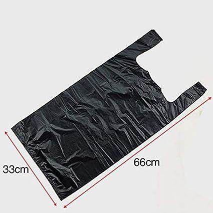 Aammnn Bolsa De Basura Engrosamiento Tipo Chaleco De Consumo Y Comercial 20L 200 Pack