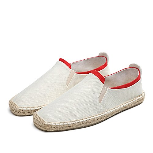 Linen Loafers ONS B Casual Men's Blue Fall for Slip Comfort Summer HUAN Color Size amp; White 39 Spring Shoes 7qEnvWgg0
