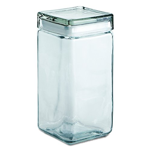 Anchor Hocking 2-Quart Stackable Jars with Glass Lids, Set of 4 by Anchor Hocking