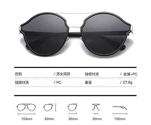 inspirées Lennon style du rond en cercle soleil Bleu de Glacier retro polarisées lunettes vintage métallique wqBRt8Z