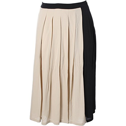 Weekend MaxMara Womens Silk Pleated A-Line Skirt Beige - Sale Maxmara