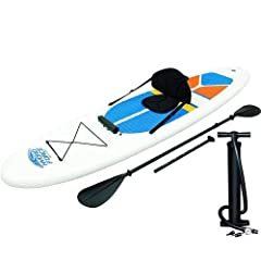 """The Bestway White Cap SUP & Kayak is great for beginner or avid paddlers needing a convenient solution. The White Cap is an all-purpose SUP and Kayak with great speed and stability. Easy to store, the deflated dimensions are 19.69"""" x 11.8..."""