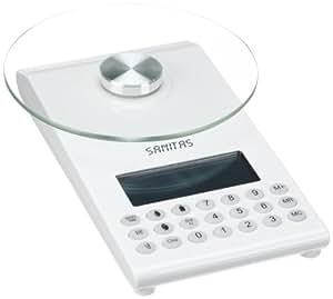 Sanitas SDS 64 - Báscula de cocina digital, color blanco