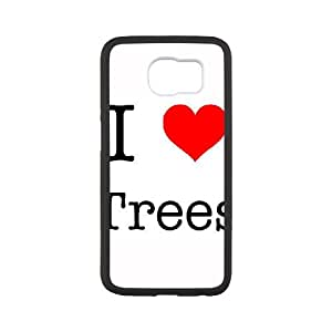 Samsung Galaxy S6 Cell Phone Case White I Love Trees KPJ Phone Case Fashion Hard